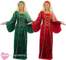 LADIES TUDOR QUEEN COSTUME FANCY DRESS MEDIEVAL PRINCESS DRESS HEADPIECE STD XL