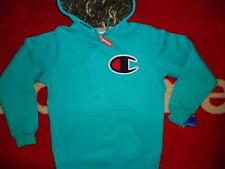 SUPREME 2013 F/W S-XL CHAMPION BOX CDG LOGO PULLOVER PCL HOODIE COMME TEAL