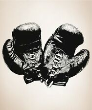 Vinyl Wall Decal Sticker Antique Boxing Gloves OS_AA682B 81W x 60H