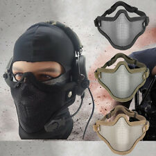 Airsoft Mask Metal Mesh Half Face Protection Hunting Paintball Tactical Strike