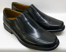 "SALE: Clarks Gents Black Leather Slip-ons ""HOLD TOUGH"" G-Fitting"