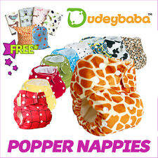Reusable POPPER Fastening Pocket Nappy Cover Wrap, Washable for Baby or Toddler