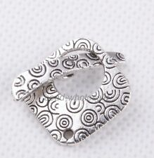 10sets Tibetan Silver Square Decorative Pattern Toggle Clasps For Jewelry Making