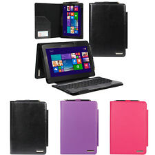 Slim Leather Keyboard Portfolio Stand Cover Case For Asus Transformer Book T100