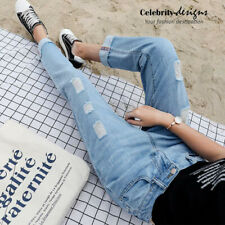 jn7V2 CFLB Women's Distressed Torn Ripped Baggy Boyfriend Jeans 8 10 12 14 16