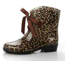 New Sweet Lady Ribbons Bow Wellington Wellies Rubber Snow Rain Ankle Boots Shoes