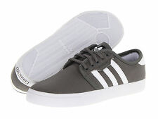 ADIDAS ® SEELEY CANVAS CINDER WHITE BLACK MEN'S SHOES * ORIGINAL AND NEW IN BOX