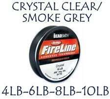 FIRELINE THREAD 4-6-8-10 LB 50 YARDS CRYSTAL/GREY