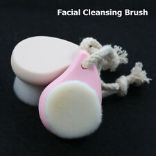 Soft Mild Fiber Facial Cleansing Brush Deep Pore Clean Face Massager Hand Coated