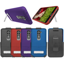 Seidio SURFACE Combo Kickstand Belt Clip Holster Hard Shell Case Cover For LG G2
