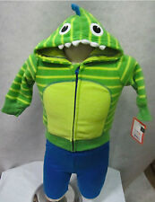 GREEN MONSTER Amphibian Reptile Scary Hoodie Pants Set 0-3M, 3-6M, 6-9M