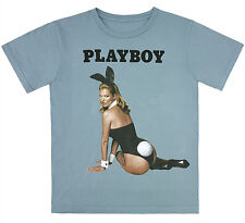 MARC JACOBS Kate Moss Playboy Charity Graphic Tee T-Shirt Bunny 100% Cotton Blue