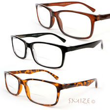 Bifocal Vision Classic Rectangle Frame Reading Glasses from 1.25 to 4.00