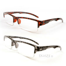 New Rectangle Reading Glasses Semi Rimless Sophisticated Readers 100-250