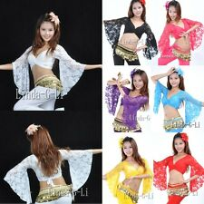 Sexy Belly Dance Lace Blouse Top Belly Dance Costume shipping From USA 7/2