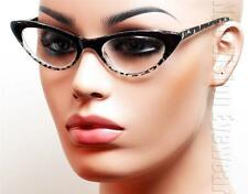Cat Eye Vintage Style Spring Assisted Clear Reading Glasses Various Colors 37R