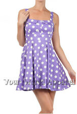 BEAUTIFUL DARLING LAVENDER WHITE POLKA DOTS DRESS MODCLOTH STYLE VINTAGE RETRO