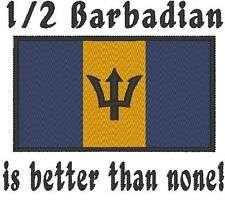 1/2 Barbadian is better than none! Barbados Flag. Carter's Baby Bodysuit