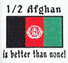 1/2 Afghan is better than none! Afghanistan Flag Carter's Baby Bodysuit