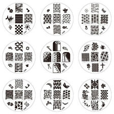 Nail Art Stamp Stamping Image Template Plate YI Series 1 (YI01-YI12) *** NEW ***