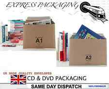 50 X A1 DVD SIZE LIL CARDBOARD ENVELOPES AMAZON STYLE POSTAGE PACKAGING MAILER