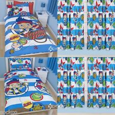 Jake & Neverland Pirates Doubloons Single Duvet & Matching Curtains Bedding Set