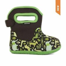 BOGS BABY BOGS GREEN ZOO BOYS CHILDRENS KIDS RAINBOOTS WINTER BOOTS WATERPROOF