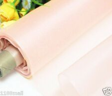 By 0.5 Yard Light Weight 100%Pure Silk Organza Fabric Material Powder Pink Voile