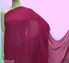0.5 Yard (Beauty Red) Pure Silk Georgette Sheer Crepe Chiffon Fabric 140cm(#214)