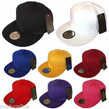 NEW PLAIN SNAPBACK STATE PROPERTY CLASSIC BASEBALL CAP FLAT PEAK FITTED HAT SALE