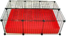 NEW Covered Cube & Coroplast Guinea Pig Cage 2x3 Grid C&C - Small