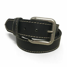 New Mens Handmade Genuine Solid Buffalo Leather Stitched Belt