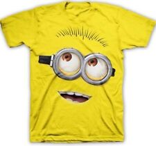 DESPICABLE ME 2 BIG FACE DAVE MINION ADULT MENS YELLOW T-SHIRT TEE S M L XL 2XL