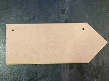 5 Directional MDF blank craft plaques 250mm x 100mm x 9mm