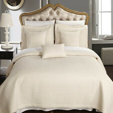 Luxury Checkered Multi-Piece Coverlets Quilted Set  Wrinkle Free Microfiber