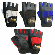 WEIGHT LIFTING  PRIME LEATHER   PADDED GLOVES SPORTS FITNESS BODY BUILDING GYM