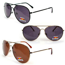 Aviator Polarized Sunglasses Black Brown Gold Glare Blocking Men Women New