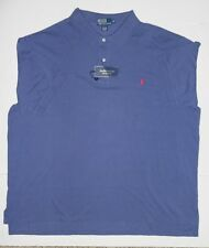 MENS POLO RALPH LAUREN BIG & TALL BLUE MESH POLO SHIRT   3XB 4XB 2XLT 3XLT NEW