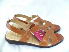 Ladies Dreamwalker Tan Sandals Leather comfort shoe Clearance Stock