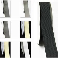 "Grosgrain Ribbon 2"" /50mm for Wedding 5 Yards White Gray n Black by the 5 yard"