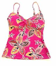 Croft & Barrow Twist Tankini Swim Top Fit for You Bust Enhancer Floral Size 6 8