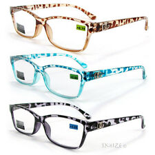 DG EYEWEAR Leopard Pattern Retro Style Reading Glasses 125-300 5 Colors Choice