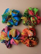1 x CHIFFON SCRUNCHIE SCRUNCHY HAIR ELASTIC FABRIC HEAD BAND 4815 FLORAL