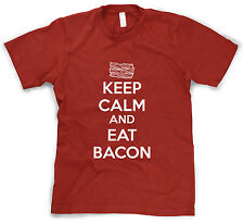 Youth Keep Calm And Eat Bacon T Shirt Funny Bacon Lover Tee For Kids