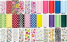20 OR 30 CELLOPHANE CELLO BIRTHDAY PARTY BAGS LOOT GIFT CHRISTMAS PATTERNED
