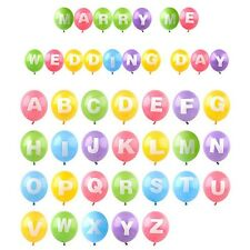 "12"" Latex Helium Balloon Letter A - Z Full Alphabet Party Wedding Decoration New"