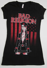 BAD RELIGION T-shirt Vintage Womens Juniors S-XL BR Punk Rock Black Tee New