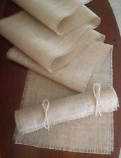 Primitive Burlap Table Runner Country Rustic Wedding Bridal Holiday Shabby Chic