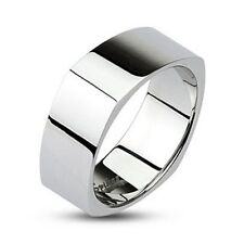 316L Stainless Steel Polished Square Men's or Women's Wedding Band Ring Sz 5-14