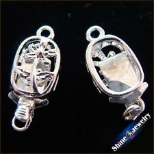 Wholesale 5/ 10 / 20 PCS Silver Plated Filigree Flower Box Clasps 7x17mm FINDING
